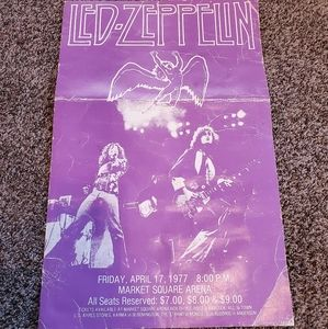 Original led zeppelin 1977 concert poster